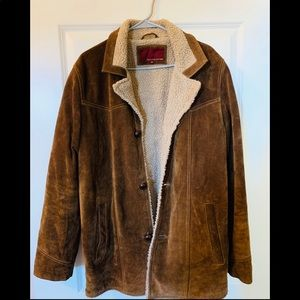 High Quality Leather Hide Coat.